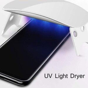 Image 4 - 삼성 S9Plus s10plus에 대 한 2pcs 화면 보호기 강화 유리 액체 전체 접착제 UV 빛 참고 10 플러스 S20 플러스 참고 20 울트라