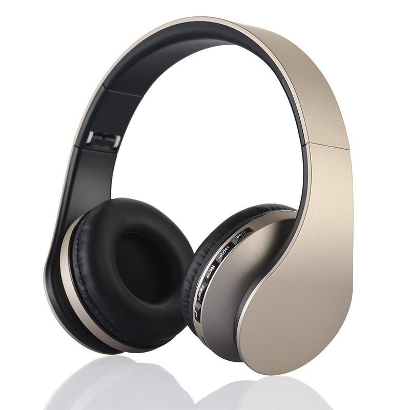 Nova Chegada colorido Mp3 casque Áudio estéreo fone de Ouvido Bluetooth Dobrável Sem Fio Fone de Ouvido Fones De Ouvido de ouro rosa com mi c Xiao mi