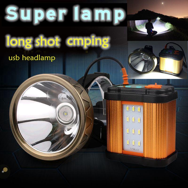 High Quality 2018  Usb Cree Xml Led Xpg Headlamp Recgargeable Powerfull Outdoor Spotlight Headlight For Hunting Fishing  Camping