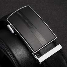 Cow Black Mens Belts High Quality genuine leather luxury strap male belts for men designer Brand Automatic Buckle