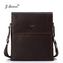 J.Quinn Men Crossbody Bags Genuine Cowhide Leather Mens Travel Male Business Shoulder Bag Fashion Designer 2017 New Man Handbags