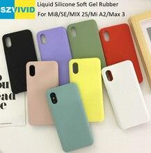 Liquid Silicone Case For Xiaomi Mi8 Mi 8 Pro SE MIX 2S Mi A2 Lite Max 3 Soft Gel Rubber High quality
