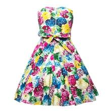 Beautiful Cotton Sleeveless Flower Party Dress