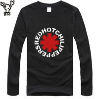 Hot Nk Punk Rap Alternative Rock And Roll Red Hot Chili Peppers T Shirt Men Cotton