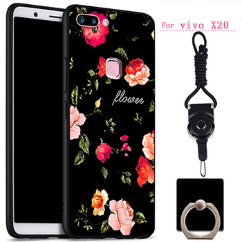 Soft TPU Phone Case For VIVO X 20 X 20a Case Silicone Black Simple  Soft Back Cover For VIVO X20 X20a