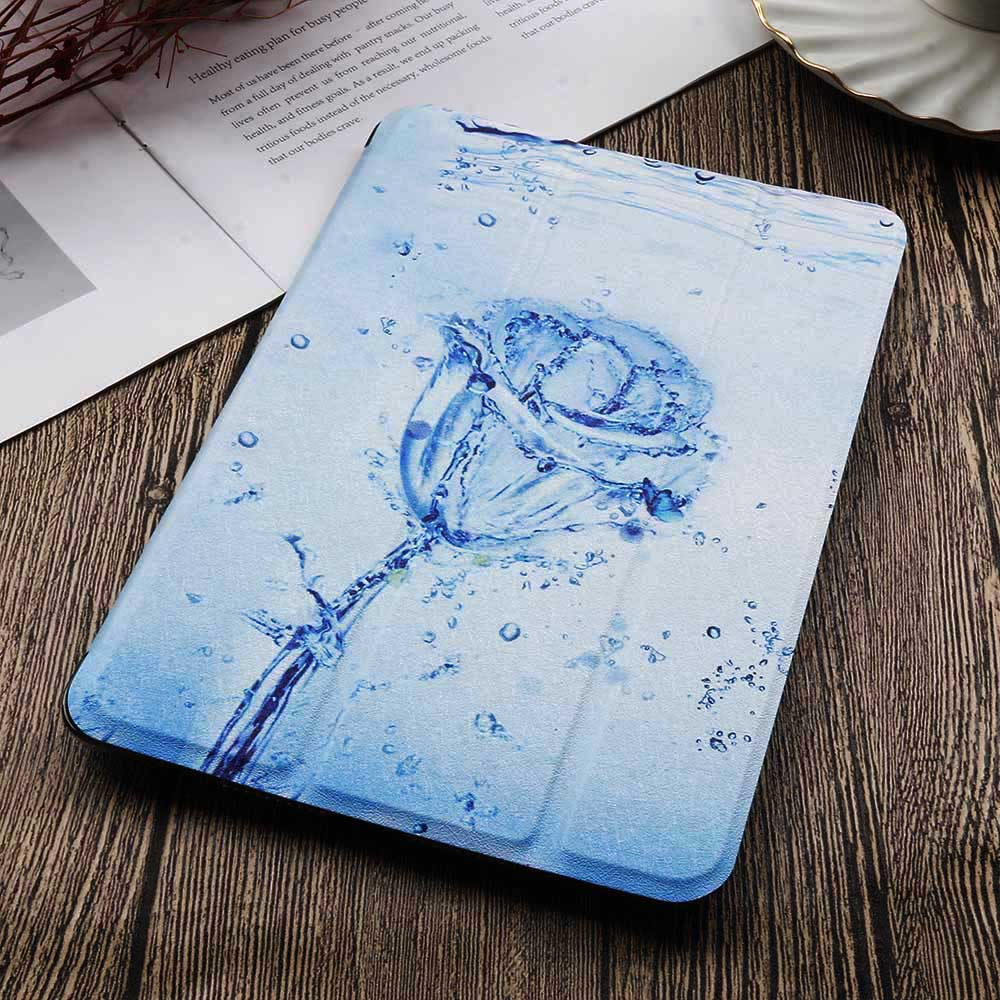 1-iPad 10.2 2020 Red QIJUN Painted Case For iPad 10 2 inch 2020 PU leather Flip Stand Cover For iPad