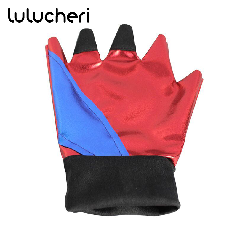 Harley Quinn Glove Costume Accessories Cycling Gloves Half Finger Bike Glove Shockproof Breathable Men Sports Gloves