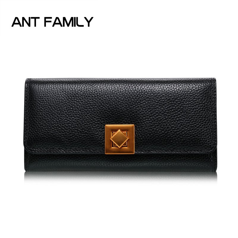 Genuine Leather Wallet Women Luxury Brand Card Holder Long Wallet Fashoin Female Coin Purse Dollar Price Large Capacity Wallets brand men wallets dollar price purse genuine leather wallet card holder luxury designer clutch busines short wallet high quality
