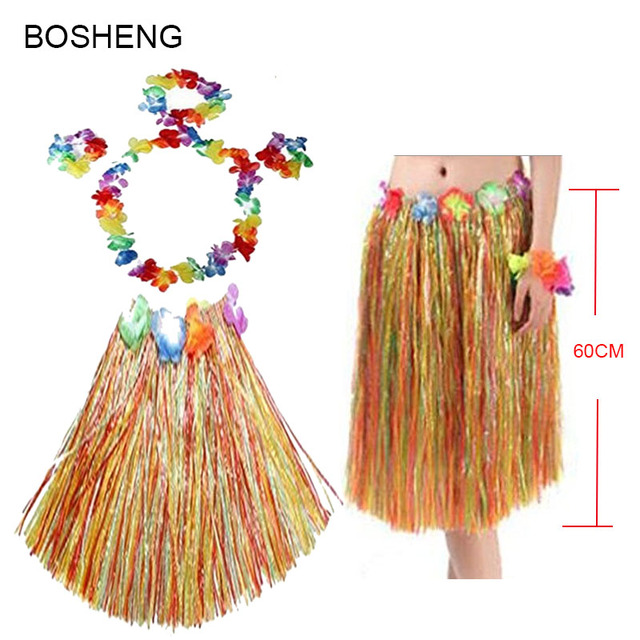 99fdc9cf23afa 5pcs/set Adult Women Luau Hula Dance Skirts Plastic Fibers Grass Skirts  Hula Skirt Hawaiian Sc 1 St AliExpress.com