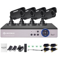 DEFEWAY 4CH 720P CCTV System Outdoor Mini Camera HD Recorder 4ch HDMI P2P CCTV DVR Security