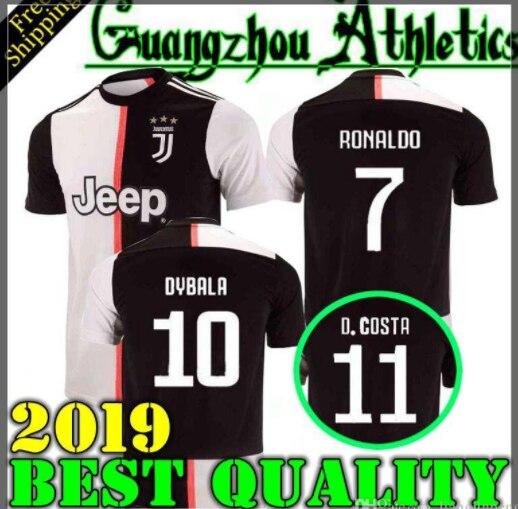 acd146e36 2019 RONALDO DYBALA 19 20 HIGUAIN HOME AWAY Juventus soccer jersey football  shirt MANDZUKIC CHIELLINI Camiseta