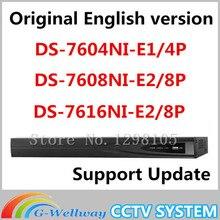 Origianl hikvision english version NVR DS-7604NI-E1/4P DS-7608NI-E2/8P DS-7616NI-E2/8P 4/8/16ch POE NVR Up to 6 MP