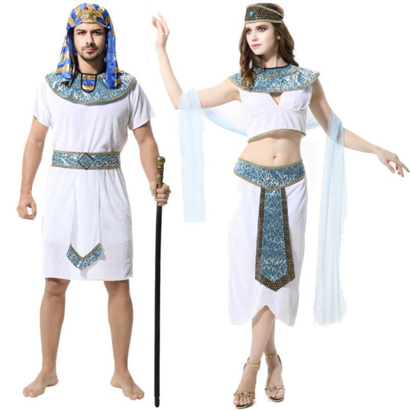 2017 new Halloween Couple Cleopatra Pharaoh costume high ...
