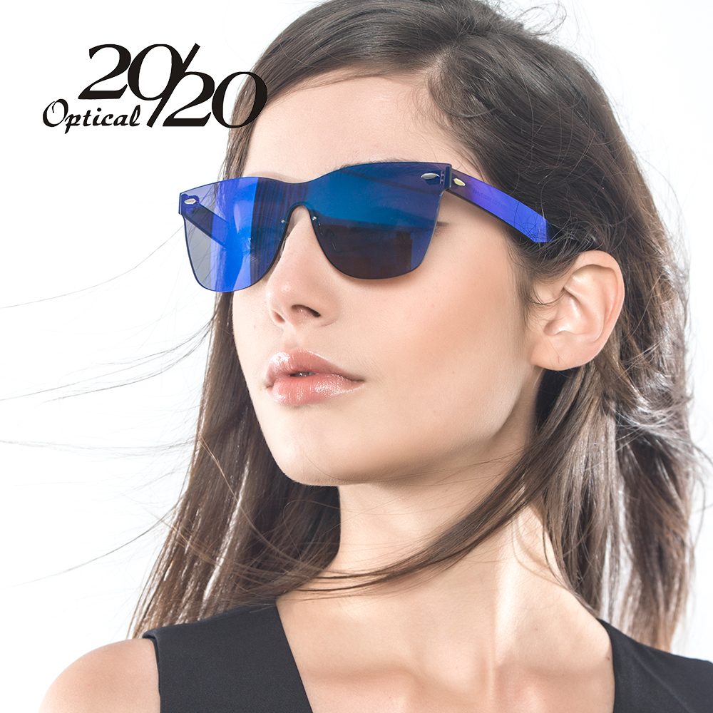 2020 Brand Unique Style Sunglasses Women Sexy Flat Lens -6182
