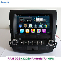 Aoluoya ips Оперативная память 2 ГБ + 32 ГБ Android 7,1 2 Din автомобильный DVD gps плеер для Mitsubishi Outlander 2006 2012 радио gps навигации Bluetooth