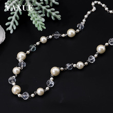Free Mail Natural Pearl Fashion Short Necklace Jewelry Style Simple Handmade Long