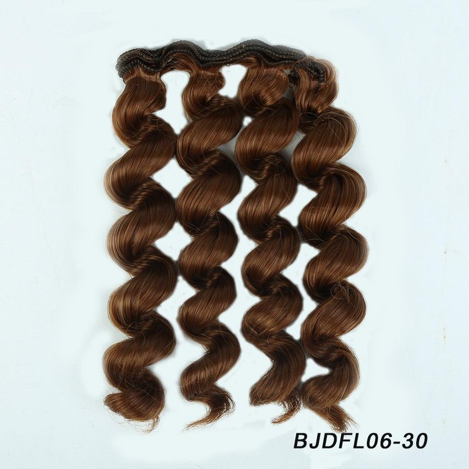 Allaosify черного, золотого, коричневого цвета Серебро Цвет короткие вьющиеся волосы 15 см * 100 см Парики Для шарнирной куклы для 1/3 1/4 1/6 куклы DIY