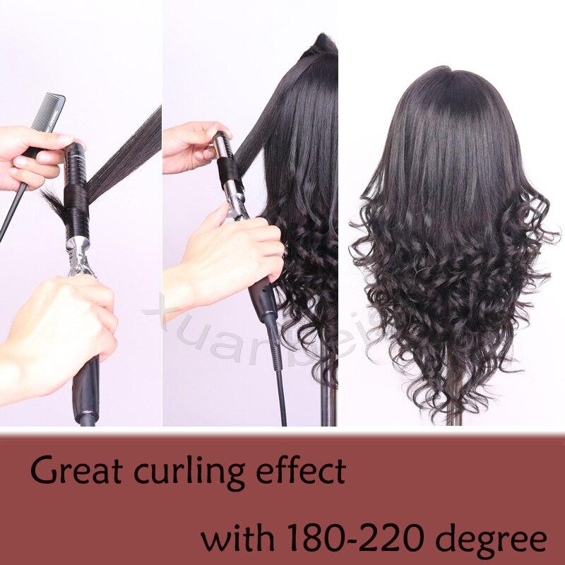 100 Human Hair Mannequin Head For Salon Curl Paint Dye Cut Manikin Maquiagem Hairdressing Head Wig Head 18 quot Training Doll Head