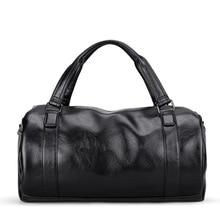 Купить с кэшбэком New Fashion Leather Men Travel Bags Large Capacity Waterproof Duffle Bag Vintage Hand Luggage Shoulder Bag Packing Cubes Valise