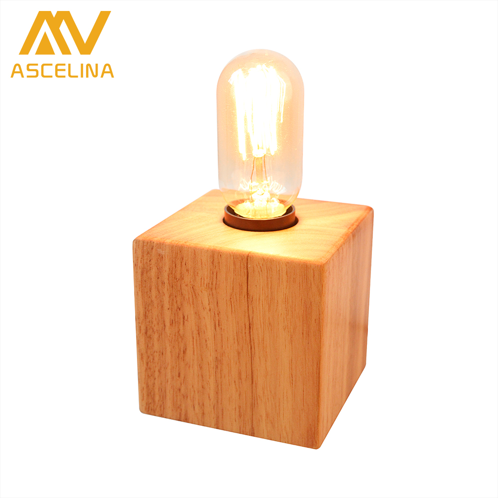 Modern Table Lamp led light ASCELINA Nordic Simple Creative Wooden table lamps for bedroom Office lamp Desk light Home lighting simple wooden glass ball table lamps creative warm night light bedroom bedside table light decorative home lighting lamp za mz88