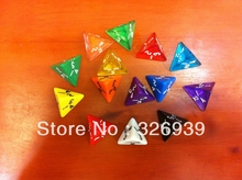 Ling multicolor dice,transparent shape