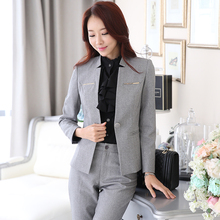 Han Ni 2015 new winter commuter OL career Ms. chaps business casual wild solid professional suit woman