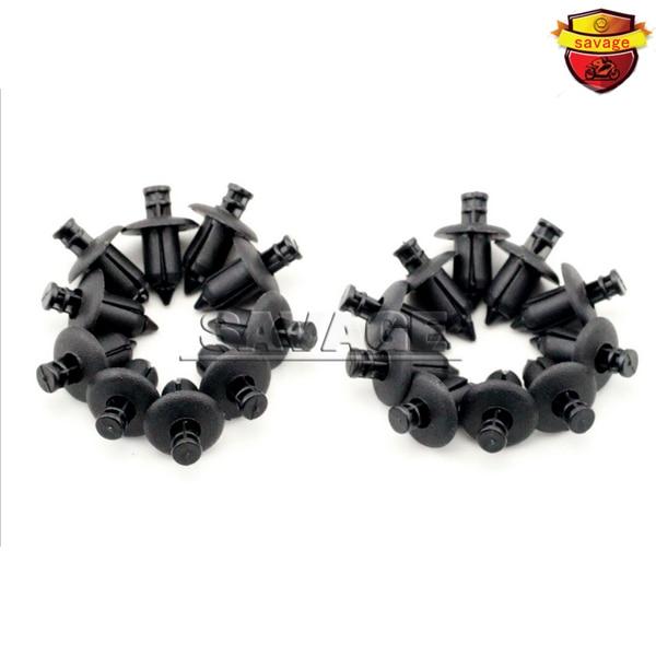 20 unids 8mm atv accesorios de motos carenado nylon remaches sujetadores de clip