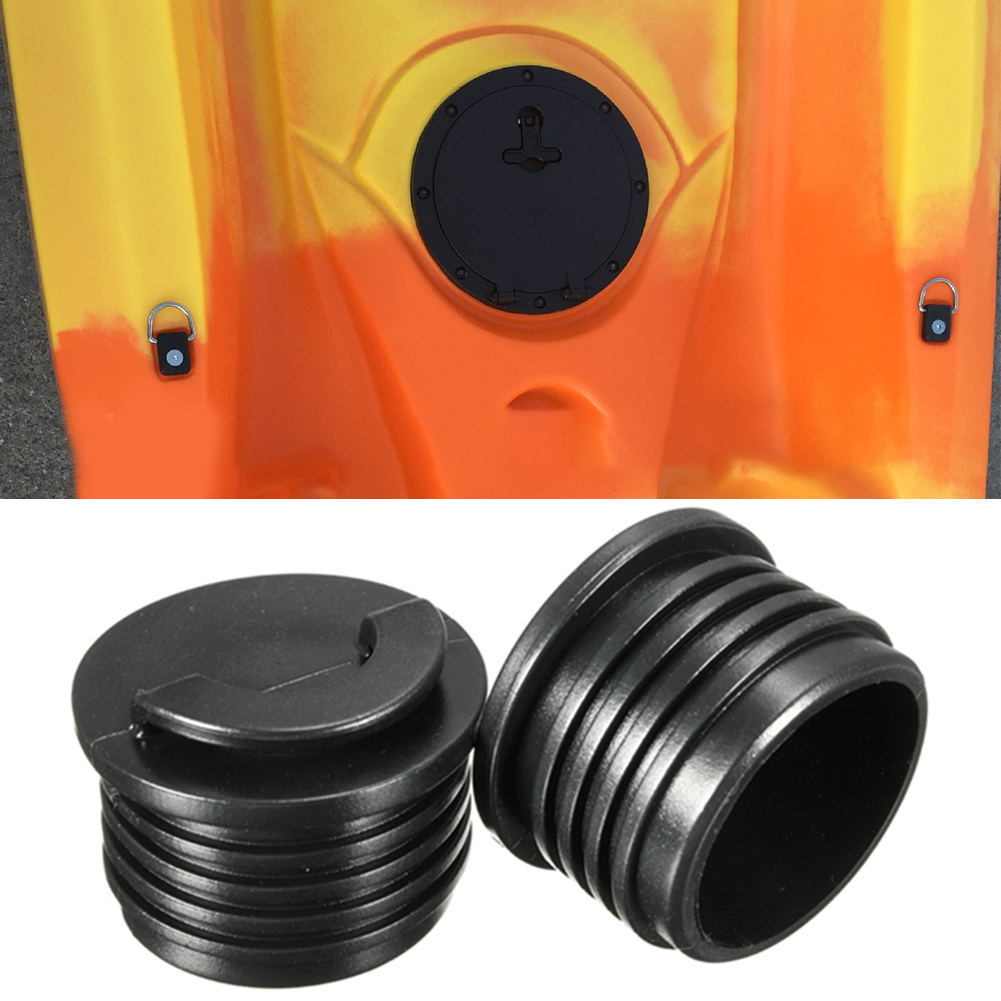 2pcs/set Mini Professional Outdoor Waterproof Plug Kayak Accessories Drain Stopper Portable Easy Install Rubber Marine Boating