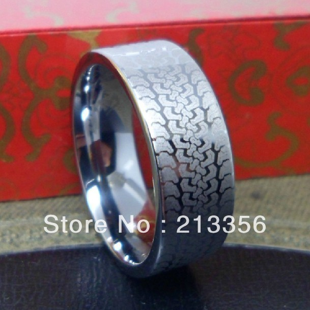 FREE SHIPPING USA HOT SELLING EC TUNSGTEN NEW WOMENMENS TUNGSTEN CARBIDE WEDDING BAND RING WITH TREAD
