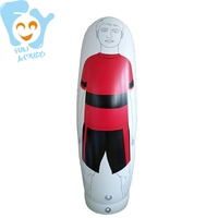 2m Tall Adult High Inflatable Color Football Training Goal Keeper Tumbler Air Soccer Dummy Mannequin
