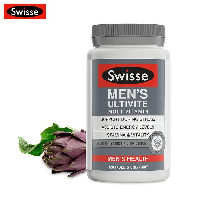 Swisse hombres Ultivite apoyo durante el estrés ayuda a niveles de energía resistencia y vitalidad 120 Tabletas