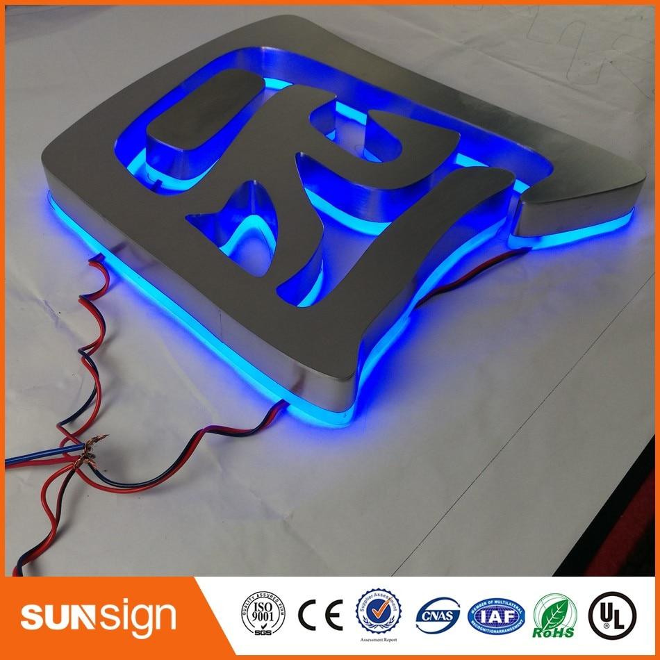 Custom Diy Outdoor Advertising RGB Led Backlit Letters Lighted