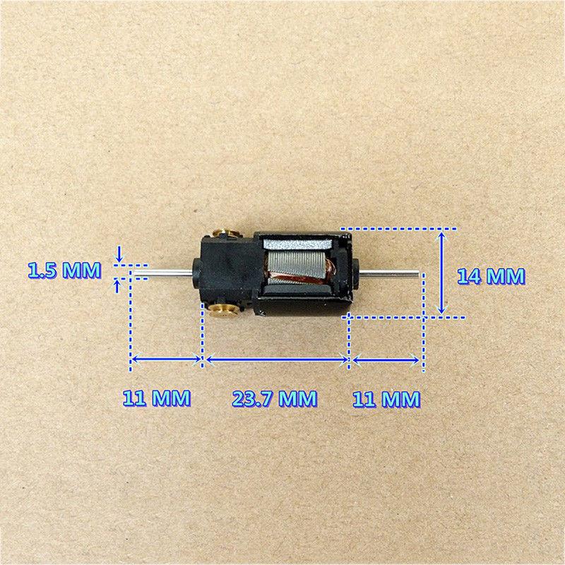 2PCS DC 6V 7.4V 12V High Speed Dual Shaft 5-Pole Rotor Mini Motor DIY Slot Car