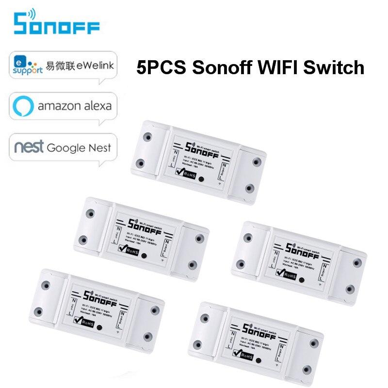 5PCS Sonoff Wireless Wifi Switch Module Timer Diy Wifi Switcs