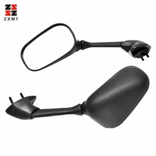 ZXMT 1 Pair Motorcycle Black Side Rear View Mirrors for Yamaha YZ-R1 2007-2008 YZF R6 2006-2007  Car Accessories Universal