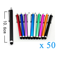 50pcs/lot Capacitive Touch Screen Stylus Pens for iPhone Kindle Samsung Tablet Laptops Universal Phones Stylus Pen