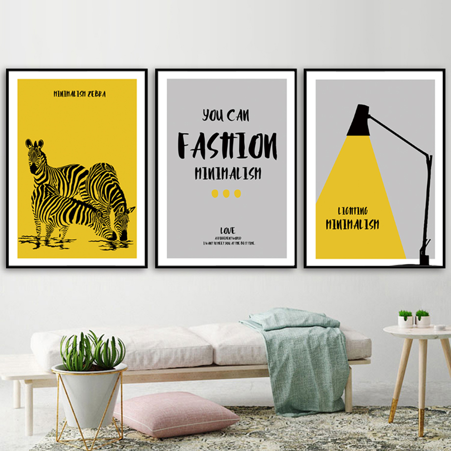 Zebra Lights Fashion Minimalism Quotes Wall Art Canvas Painting Nordic Posters And Prints Pictures For Living Room Decor