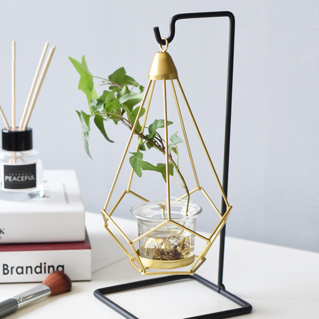 Novelty Nordic golden metal candle holders 6 styles modern simple candles for bedroom holiday living room restaurant washingroom 4