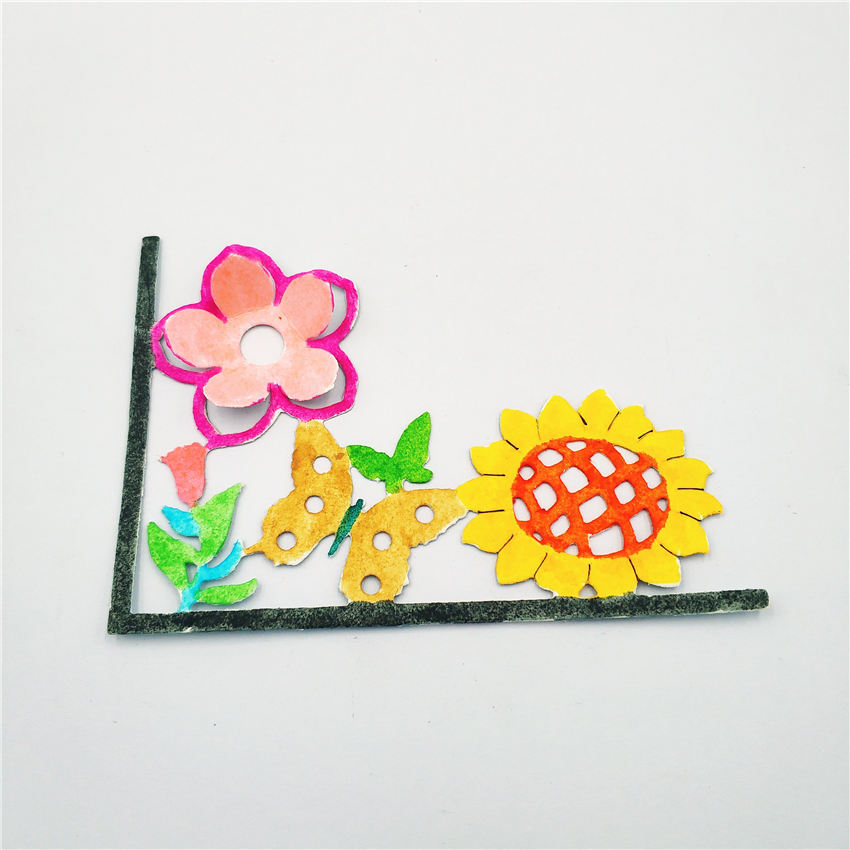 AZSG Flower border Cutting Dies for DIY Scrapbooking Photo Album Decoretive DIY Paper Card Embossing Stencial in Cutting Dies from Home Garden