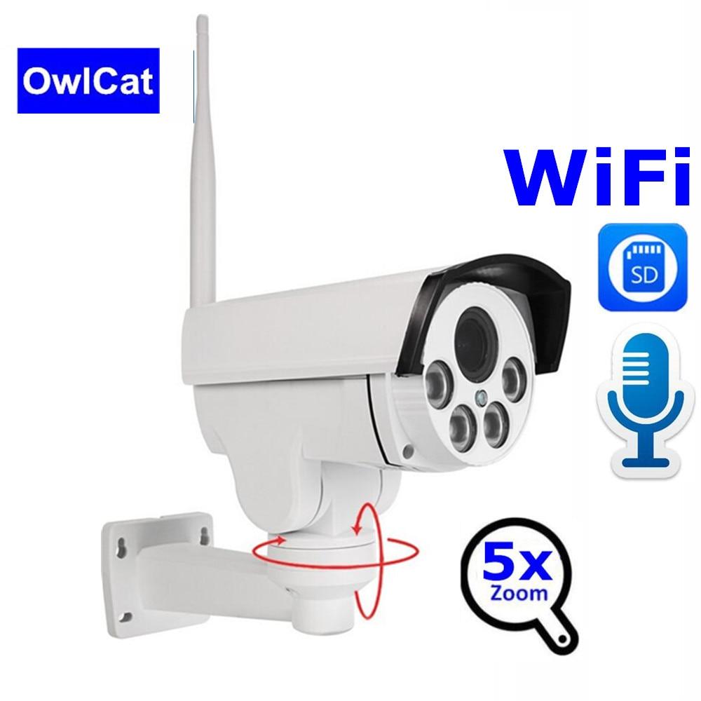 OwlCat 1080P Wifi IP Camera PTZ 5X ZOOM 2.7-13.5mm Wireless Home Security IP Camera Surveillance Camera Night Vision CCTV CameraOwlCat 1080P Wifi IP Camera PTZ 5X ZOOM 2.7-13.5mm Wireless Home Security IP Camera Surveillance Camera Night Vision CCTV Camera