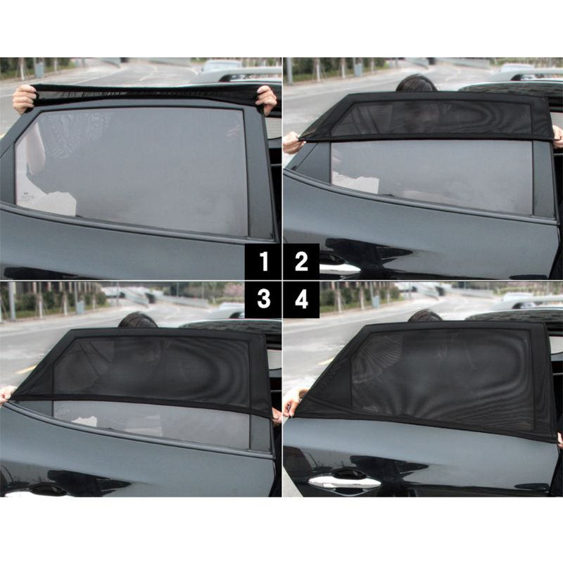 Image 4 - New Block mosquitoes Sun Shade Sox Universal Fit Baby Rear Large Car Side Window Sun Shades Travel for Car, 1 pair qyh-in Side Window Sunshades from Automobiles & Motorcycles