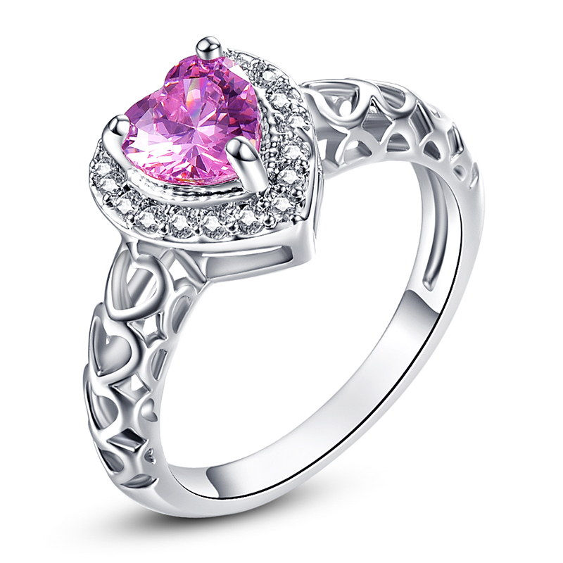 Popular Pink Engagement Rings Buy Cheap Pink Engagement Rings lots from China