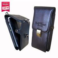 جلد طبيعي حمل حزام كليب الحقيبة الخصر محفظة حالة تغطية ل doogee s60 أكياس الهاتف الخليوي الحرة وانخفاض الشحن