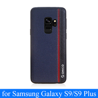 Genuine Leather Case for Samsung Galaxy S9 with Soft Silicone Edge Shell for Samsung S9 Plus S9+ Free Tempered Screen Protector