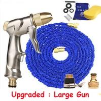 Upgraded Blue Magic Manguera Extensible 3 Times Garden Hose Watering Manguera Brass Water Gun 150ft Garden