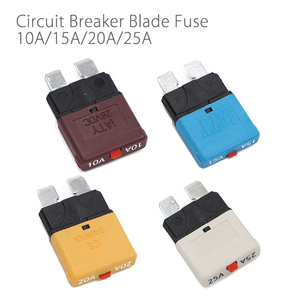 Image 1 - Resettable Circuit Breaker Blade Fuse 10A   25A 28V For Marine Rally Automotive