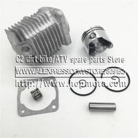 44 6 Engine Cylinder Head With Piston Kit For 2 Stroke 49cc Mini Dirt Bike Mini