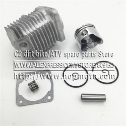 49CC (44-6) lub 47CC (40-6) głowica cylindra do silnika z sworzeń tłokowy pełny zestaw do 2 suwowy Mini motor terenowy ATV Quad motorynka