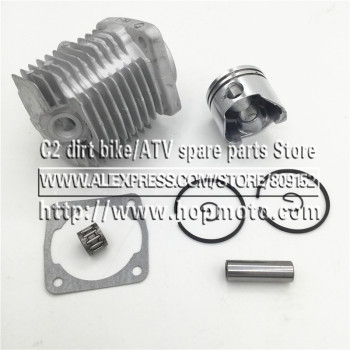 49CC (44-6) or 47CC (40-6) Engine Cylinder Head With Piston Pin Full Kit For 2 Stroke Mini Dirt Bike ATV Quad Pocket Bike