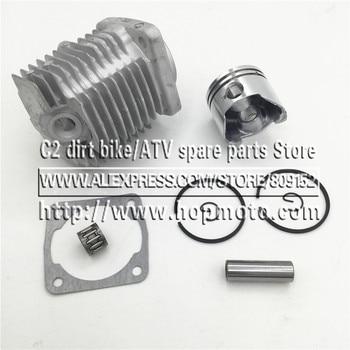 Tête de cylindre de moteur 49CC (44-6) ou 47CC (40-6) | Kit complet de cylindre de moteur avec goupille de Piston, pour Mini vélo à 2 temps, vtt de poche Quad